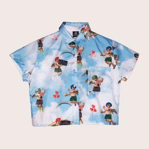 Camisa Crop Punk ANGELS