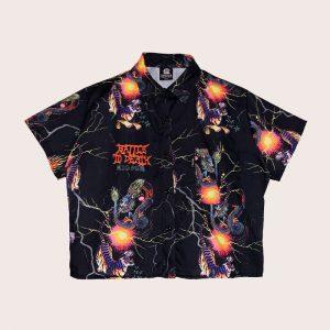 Camisa Crop FIGHT
