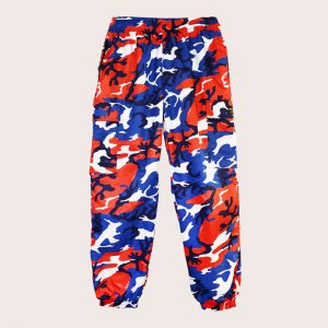 Pant Cargo ANTI-CAMO Red-Blue