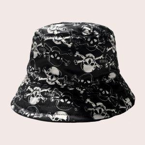 Bucket Skulls Black