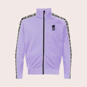 Track Jacket Black Rose Purple