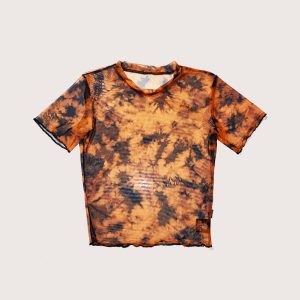 Crop Tee Microtul Orange Batik