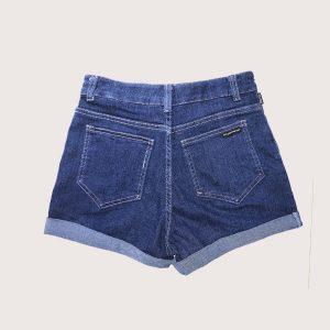 Short Denim Blue Velvet