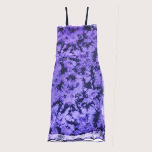 Vestido Microtul Purple Batik